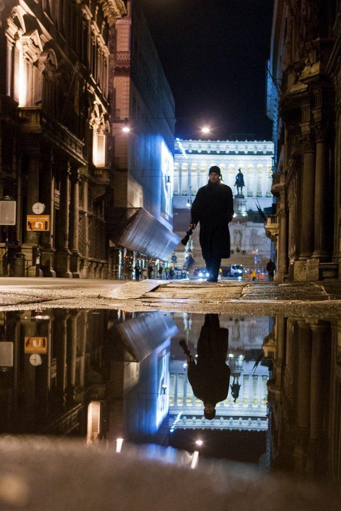 man in via del corso rome photo by gabriele gelsi